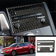 For Lexus CT200h 2011-2017 Carbon Fiber central console CD cover trim A