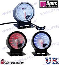 D1 Spec Universal Racing Water Temperature Gauge 60mm White Dial JDM Rally Drift