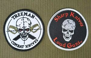 2 Treeman Combat Knives Patches