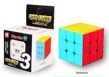 3x3 Stickerless Qiyi Warrior W Speed Magic Cube Cube Kids Adults Fun Puzzle Toys