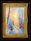 "ORIGINAL Oil Painting Handmade Arseni ~ CHRISTMAS 6"" X 4"" NO FRAME Artist Art1"