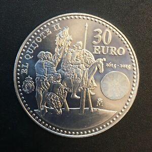 Spain - Silver 30 Euro Coin - 'Don Quixote' - 2015 - UNC