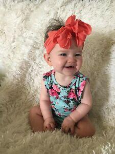 MESSY BOW, cute sweet soft headband baby toddler hairbow hair newborn girl