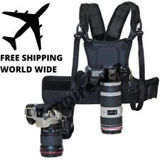 Camera Dual Harness FUNCTIONAL Carrying Chest Vest System 2 Quick Strap Dslr