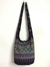 Thai Bag Purse Large Shoulder Cross body Sling Zipper Hippie Boho Cotton B692