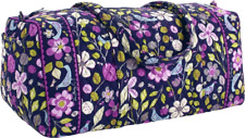 Vera Bradley Nightingale Small Duffel Floral Purple Travel Hand Shoulder Bag new