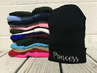 Princess Embroidered Cap Hip Hop Beanie Cuffed  - Multiple Colors