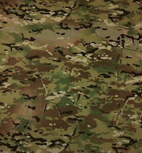 """MULTICAM NY/CO SOFT HAND TWILL CAMOUFLAGE FABRIC MILITARY APPAREL 64"""" WIDE CAMO"""