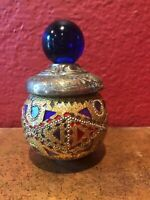 GORGEOUS Oversized Mosaic Wine Stopper / Cork - Cobalt & Mirrored - BRAND NEW!!