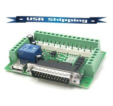 5-Axis CNC Interface Adapter Breakout Board For Stepper Motor Driver Mach3 USB
