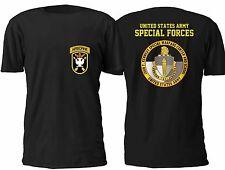 New US Army John F kennedy Special Warfare Training And School T shirt S-4XL