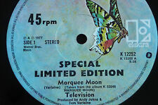 "TELEVISION'S 1st SINGLE - RARE VINTAGE 12"" SINGLE EP – MARQUE MOON- ELECTRA"