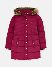 Joules Girls Hartwell Mid Length Padded Coat - Berry Blush