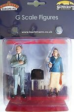 Scenecraft G scale Two Standing Passengers ( One with Cell Phone ) Figures # 191