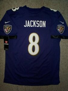 *IRREGULAR* Ravens LAMAR JACKSON nfl NIKE Jersey YOUTH KIDS BOYS (L-LG-LARGE)
