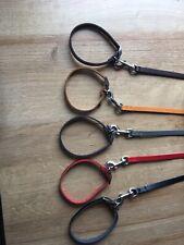 "Genuine Leather Puppy Set Collar And Lead 3/4"" x 8""-10"" & 40"" (1cm x20-25cm)"
