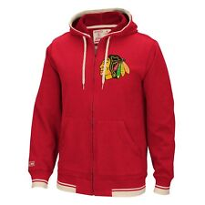 "Chicago Blackhawks CCM NHL ""Hit the Post"" Men's Full Zip Hooded Sweatshirt"