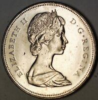 1973 Canada 50 Cents Nickel Half Dollar Brilliant Uncirculated Elizabeth II Coin