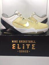 newest d8256 62562 Nike Kobe 7 Elite White Gold Series Size 10