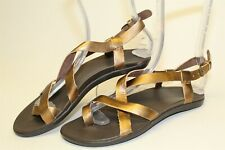 Olukai 'Upena' NEW Womens 7 EUR 37 Strappy Leather Slingback Sandals