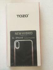 TOZO for iPhone XR Case Hybrid Soft Grip Matte Finish Frame Clear Back Panel.