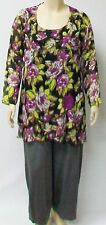 GOSSAMER LIKE SILKY POLYESTER,SIZE MEDIUM COLORFUL TUNIC BY YOEK,HOLLAND.