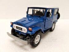 MOTOR MAX 1:24 DISPLAY TOYOTA FJ40 Diecast Car Model 74323D Blue