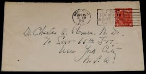Vintage Cover,CANADA POSTAL HISTORY,1948,Montreal,QB, George VI Stamped Envelope