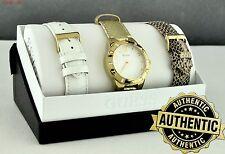 NUOVA elegante 100% Originale Orologio Donna GUESS 3 in 1 box in pelle NUOVO W0163L2