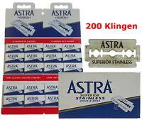 200 Lames de Rasoir Pour Astra Superior Acier Inoxydable Double Bord Gillette