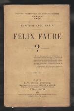HIST.DREYFUS. Félix Faure? par Capitaine Paul Marin Edt Originale P-V STOCK 1900