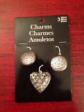 Horizon Group Inc Heart and Flower Charms - 3 Pieces