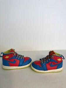 "2014' Nike Air Jordan 1 Retro ""Mario Cart"" Edition Infant Toddler High No Box"