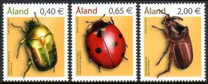 Aland Islands 242-244, MNH. Beetles, 2006