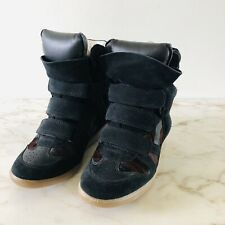 ISABEL MARANT Beckett Leather Wedge Sneakers