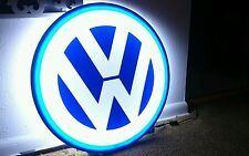 VW SIGN LIGHTED NEON 3D MOTORCYCLE CAR SPORT GARAGE RACING