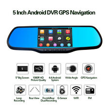 """5"""" HD 1080P Android 4.4 Car Rearview Mirror GPS FM WiFi Transmitter 8G Flash"""