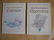 Colours+Opposites John Burningham(Granpa)Early learning Toddler Baby Small HB x2