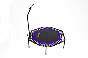 Purple Octagonal Fitness trampoline up to 120 kg With Steel Frame