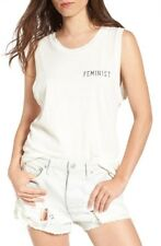 Feminist Muscle Tee Junk Food LA Sleeveless Women's Shirt Size S NWT $65