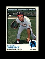 1973 Topps Baseball #373 Clyde Wright (Angels) NM