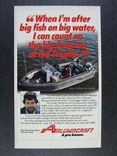 1987 Alumacraft Trophy 190 Fishing Boat vintage print Ad