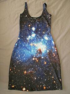Black Milk Clothing Galaxy Blue Dress XS Sample Blackmilk