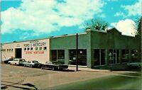 Manteca CA Ford Mercury Dealership Postcard used (26141)