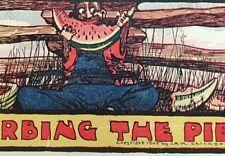 """DISTURBING THE PIECE""   A WATERMELON FEAT IN DIXIE POSTCARD 1905"