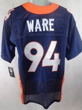 Denver Broncos Ware #94 Authentic NFL Football Jersey Navy Size 52 NEW
