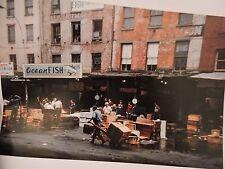 1970 Fish Vendors Manhattan Fulton Market NYC New York City Color Photo