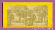 VUE STÉRÉO VIEW : PARTIE DE JEU DE LA GRENOUILLE DANS LE JARDIN , 1900 -L163