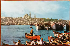 Soliman's Mosque and Golden Horn, Istanbul, Turkey. Post Card