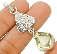 10CT Flawless Green Amethyst 925 Solid Sterling Silver Pendant Jewelry CD25-9